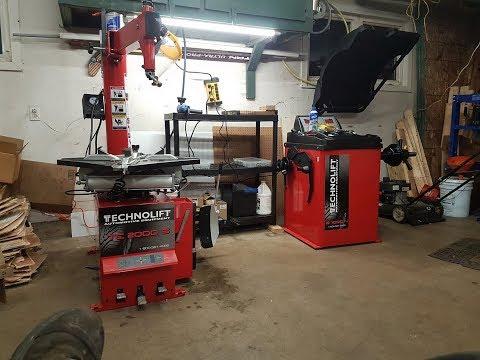 New Tire Changer And Balancer Technolift Equipment Mayflower