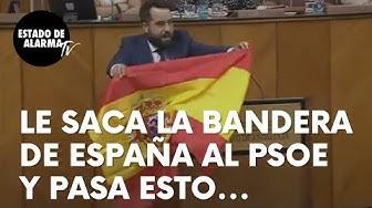 Image del Video: Saca la bandera de España al PSOE en el Parlamento andaluz y pasa esto...