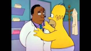 The Simpsons - Homer goes thru all 5 Kubler-Ross stages in record time.