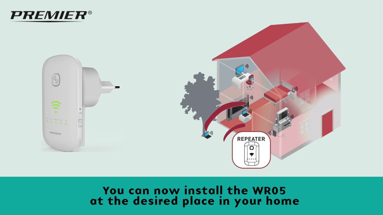 premier wifi repeater wr05 installation with without wps [ 1280 x 720 Pixel ]