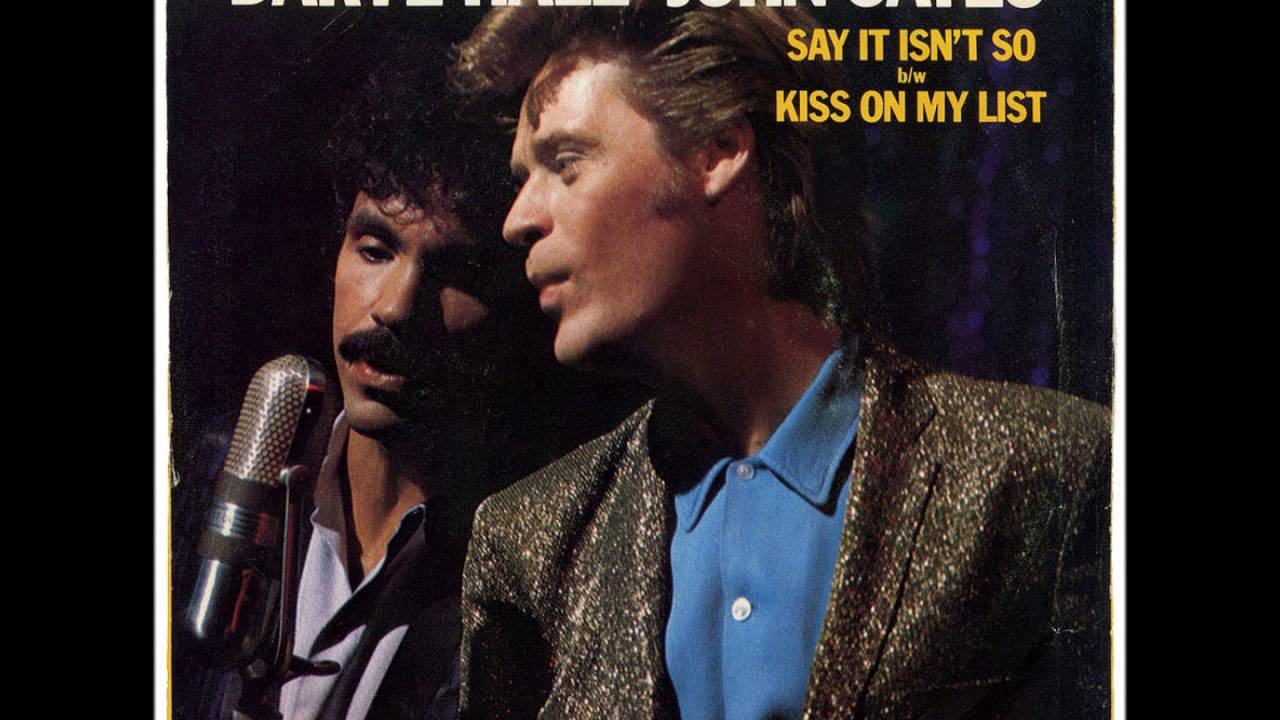 Daryl Hall And John Oates Kiss On My List 1980 Hq Youtube