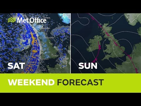 Weekend Weather - A Cold One With Further Rain & Some Hill Snow 07/11/19