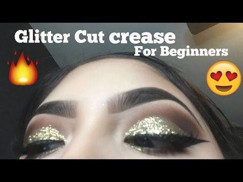 Glitter Cut Crease Eye shadow Tutorial for Beginners