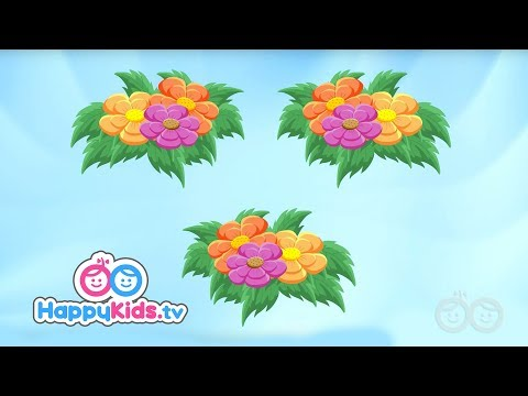 Flower Song - Learning Songs Collection For Kids And Children | Happy Kids