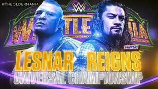 WWE Wrestlemania 34 Official And Full Match Card HD (Old Section Gold)