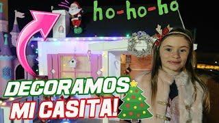 La casita de NAVIDAD de Arantxa 🎄🎅 Decoracion en familia Vlogmas 2