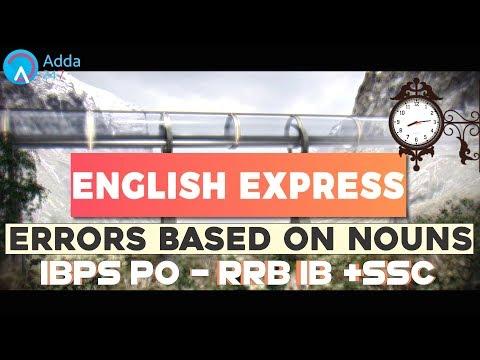 Errors Based On Nouns | English for SSC & IB (ACIO) 2017