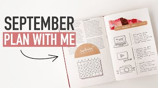 Bullet Journal SEPTEMBER PLAN WITH ME 2020 | budgeting & self care