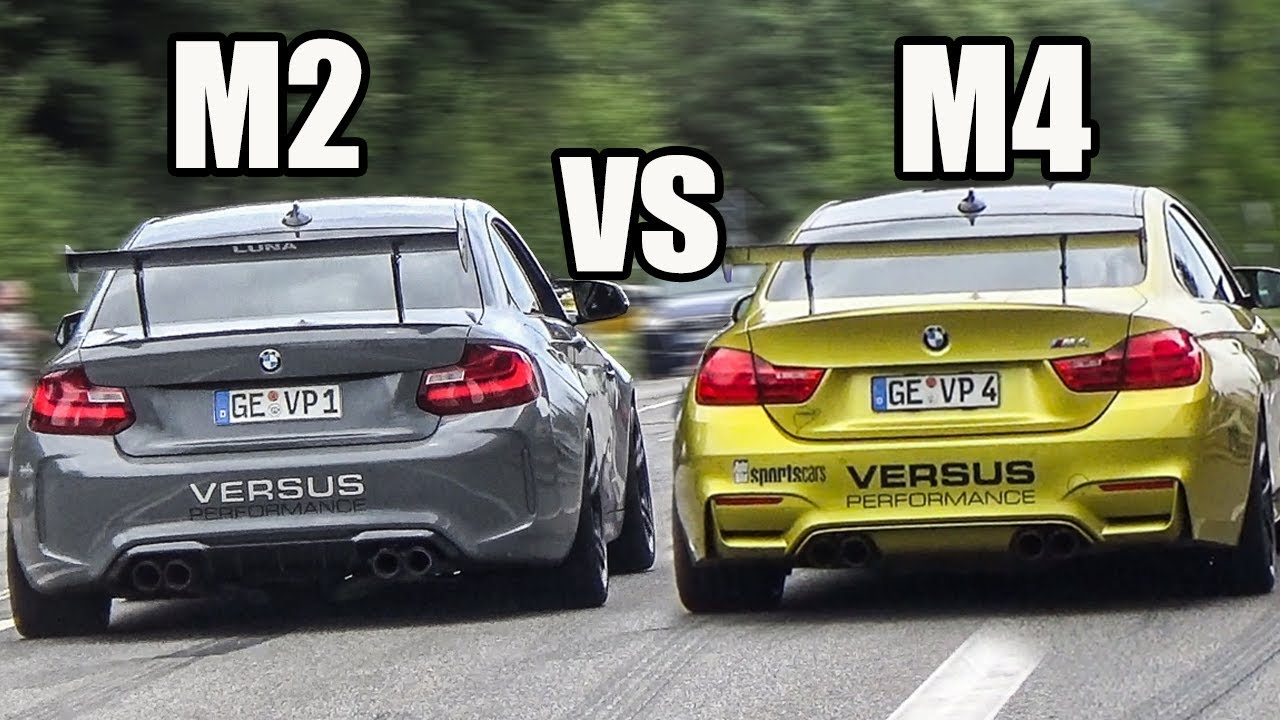 bmw m2 f87 vs bmw m4 f82 w akrapovic exhaust sound. Black Bedroom Furniture Sets. Home Design Ideas