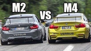 BMW M2 F87 vs BMW M4 F82 w/ Akrapovic Exhaust - SOUND BATTLE!