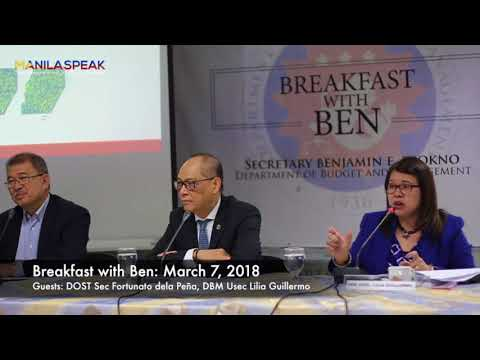 BREAKFAST WITH BEN: SUBSIDY FOR THE TAX REFORM CASH TRANSFER PROJECT AND PROJECT DIME