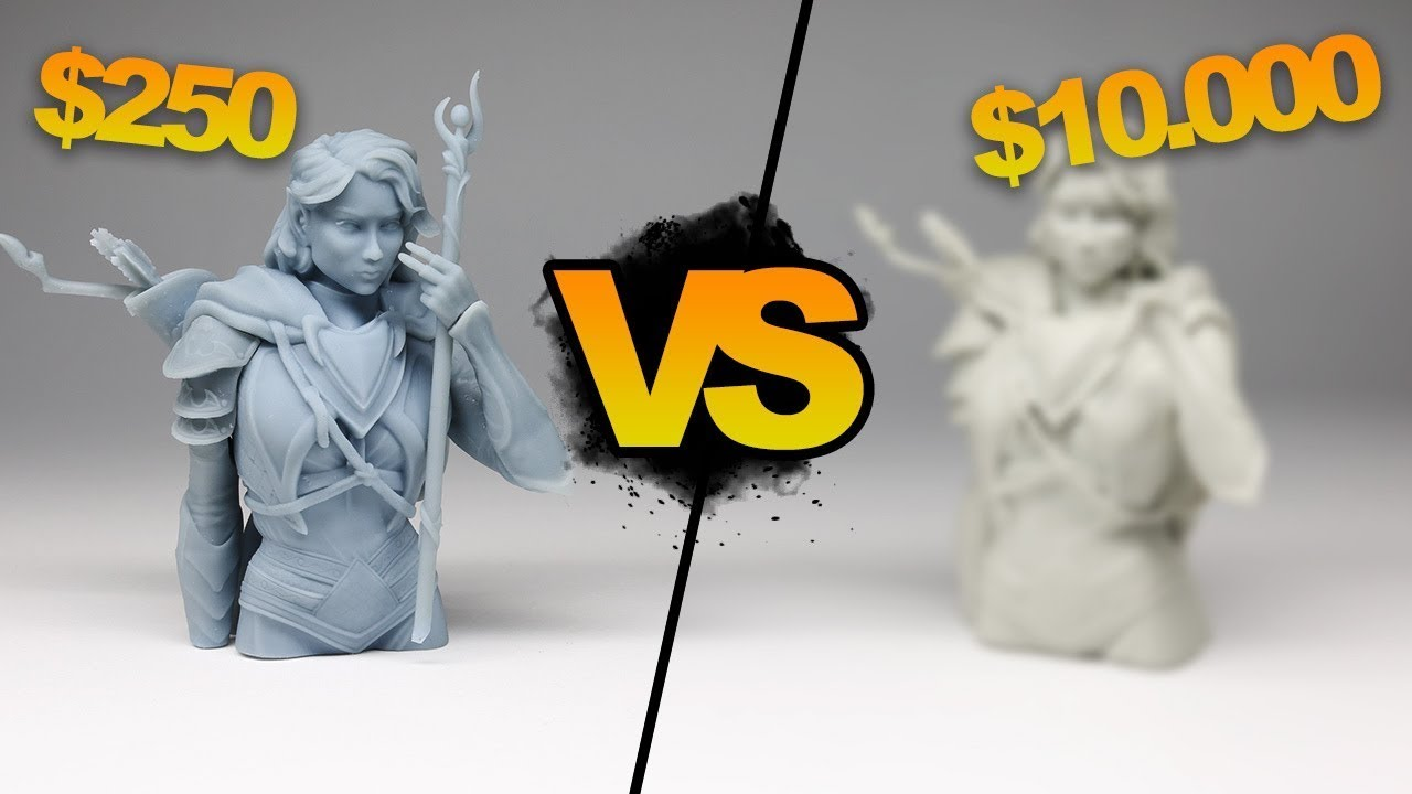 Comparing $10,000 to $250 3D prints using Fiverr!