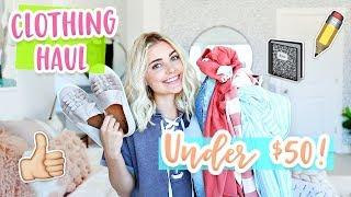 Back to School CLOTHING HAUL Under $50! | Aspyn Ovard