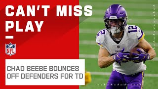 Chad Beebe Absorbs 2 Hits, Stays on His Feet, & Still Scores!