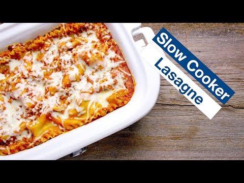 🔵 Slow Cooker Lasagna Recipe