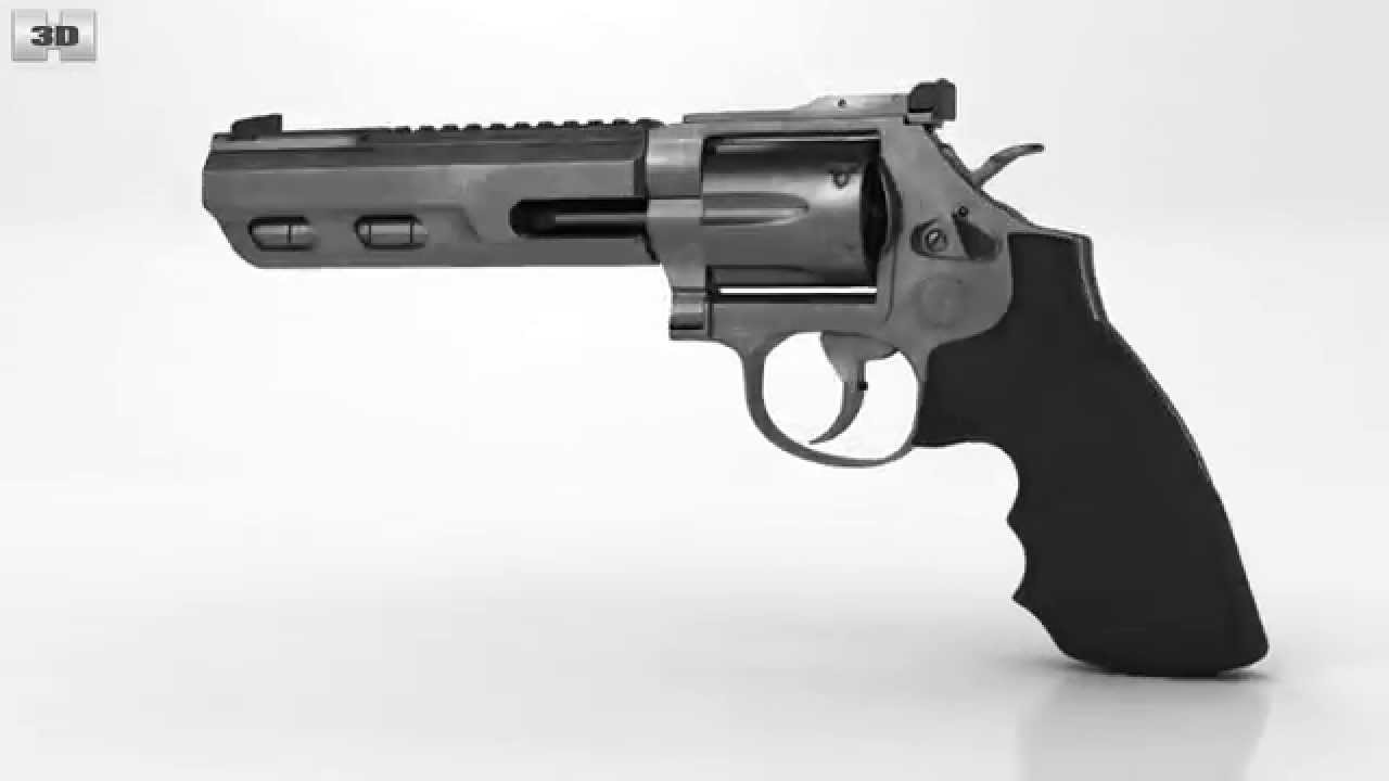 Smith & Wesson Model 686 by 3D model store Humster3D.com - YouTube