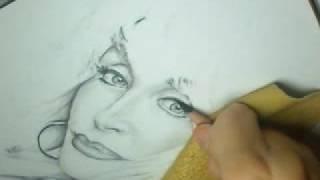 Teddy Wayne Smith Blog: Dolly Parton Drawing part 2 10-16-08