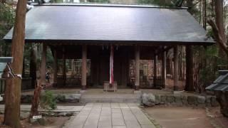 千早城の本丸跡に建つ千早神社の風景