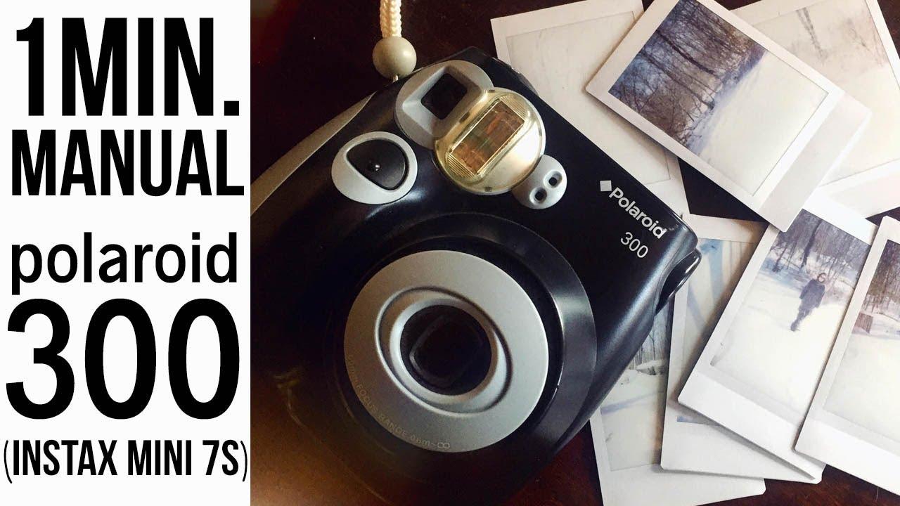 polaroid 300 instax mini 7s one minute manual youtube rh youtube com