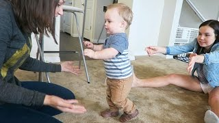BABY'S FIRST STEPS!!