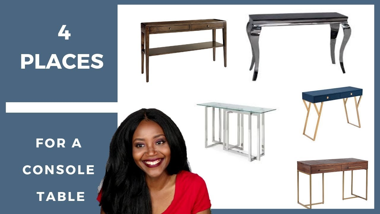 4 places to put a console table