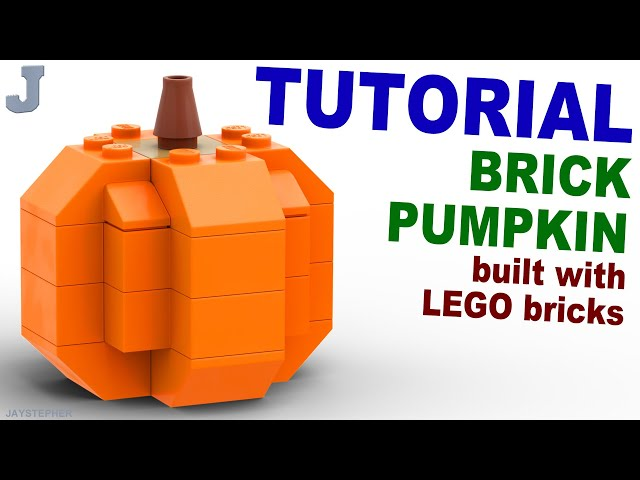 LEGO Brick Pumpkin How To Tutorial