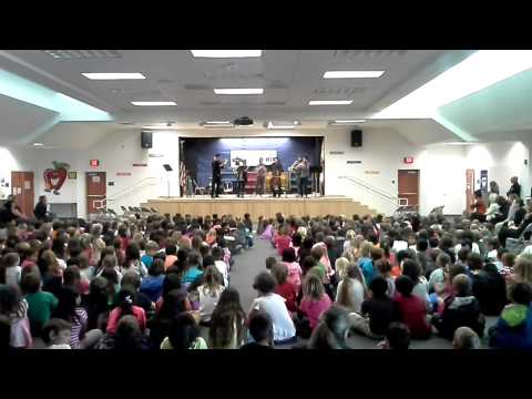 The Knights performing at Bonsall Elementary School
