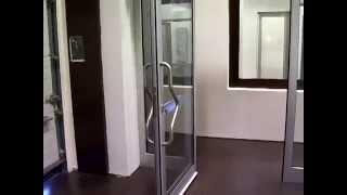 видео Алюминиевые автоматические раздвижные двери