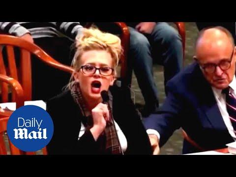 Giuliani brings 'vote fraud' witness Melissa Carone to Michigan legislative hearing