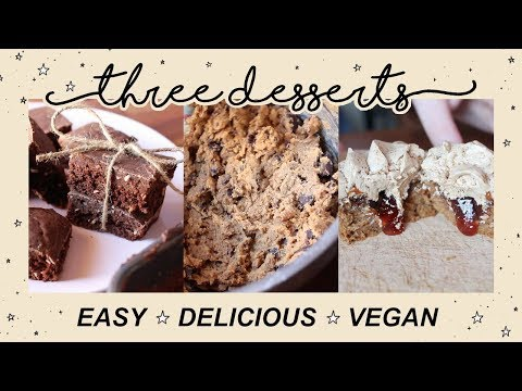 3 EASY AND DELICIOUS VEGAN Desserts