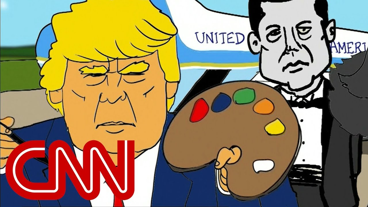 Jake Tapper's cartoon imagines Trump's Air Force One makeover