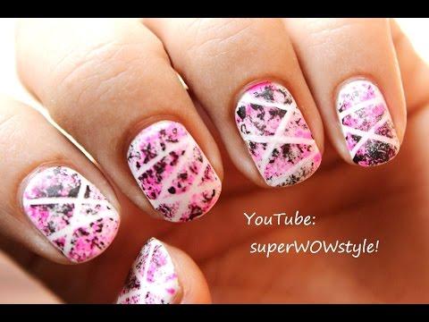 No drawing dry sponge nail polish designs nail art tutorial no drawing dry sponge nail polish designs nail art tutorial superwowstyle prinsesfo Image collections