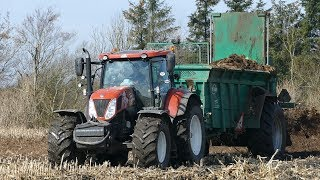 """New Holland T7.270 """"Fiat Edition"""" Working in The Field Spreading Manure w/ TEBBE Spreader   DK Agri"""