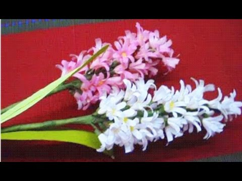 How to make Paper Flowers Hyacinth (Flower # 26)