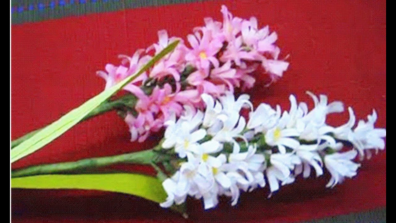How to make Paper Flowers Hyacinth (Flower # 26) - YouTube