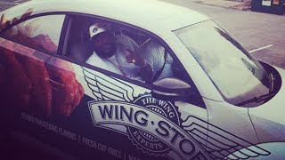 Rick Ross Drives Wing Stop Car Around Miami
