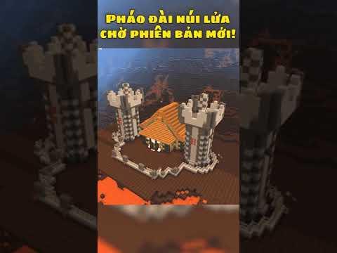 Hướng dẫn xây Lâu đài Trung Cổ Giữa Lòng Núi Lửa Mini World Creata