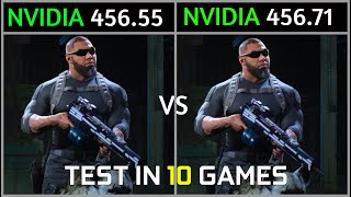Nvidia Drivers 456.55 Vs 456.71 Test In 10 Games