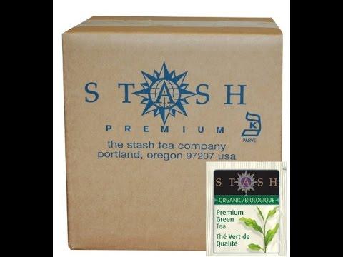 stash tea organic green tea bags in foil premium 100 count