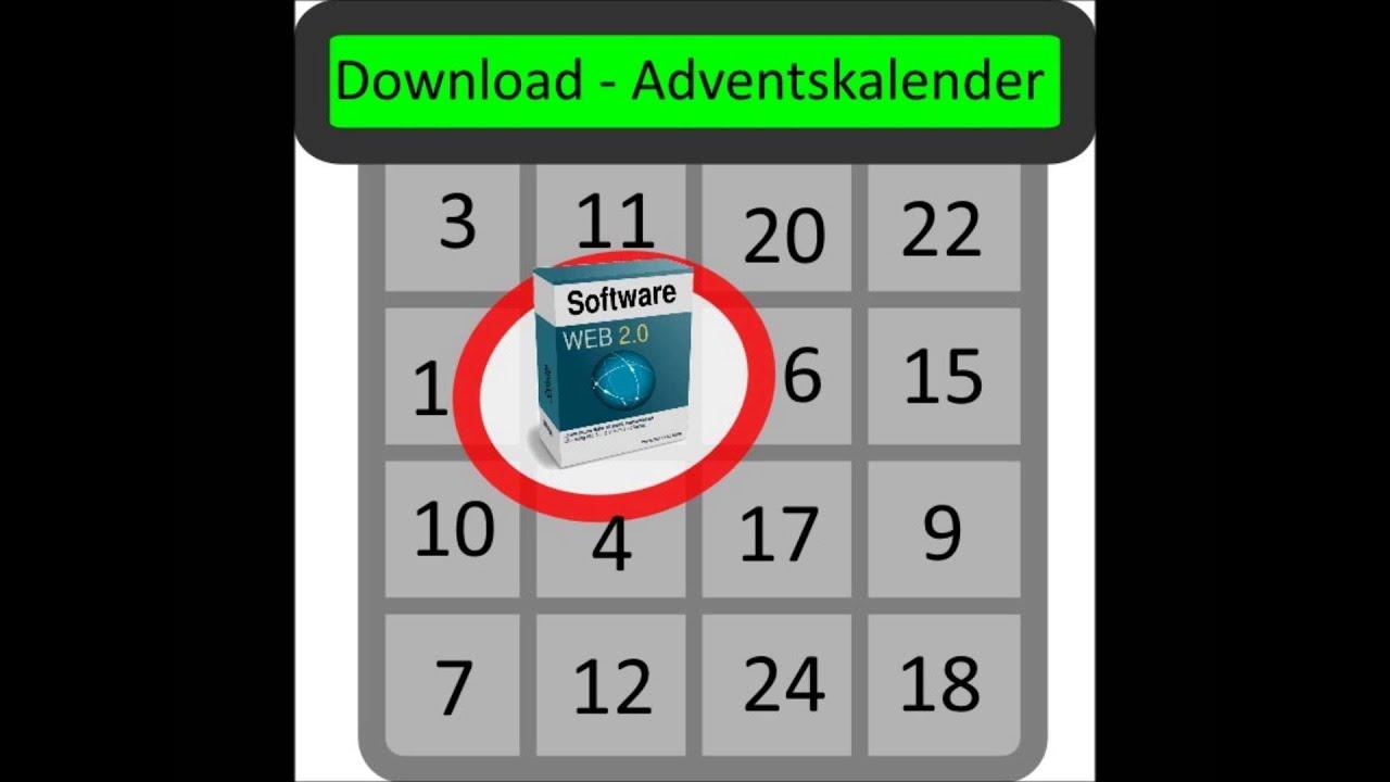 preistipp download adventskalender kostenlos software weihnachten youtube. Black Bedroom Furniture Sets. Home Design Ideas