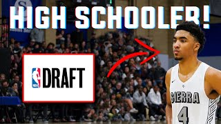 This HIGH SCHOOLER Was DRAFTED In The 2020 NBA Draft! WHO IS HE?