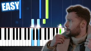 Download lagu Calum Scott You Are The Reason EASY Piano Tutorial by PlutaX MP3