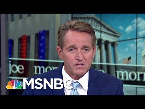Republican Senator Jeff Flake: Party In Denial About President Donald Trump   Morning Joe   MSNBC