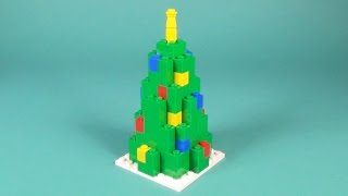 How To Make Lego CHRISTMAS TREE - 10664 Lego Bricks and More Creative Tower Tutorial