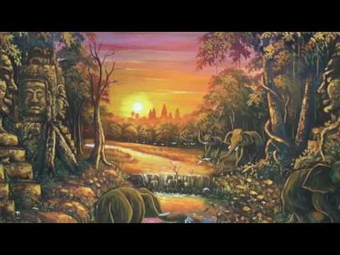 Cambodia, Artists Insde Angkor Wat