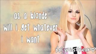 Selena gomez-as a blonde (lyrics video)