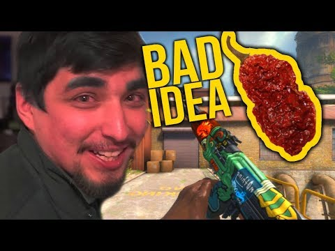 PLAYING CS:GO WHILE EATING GHOST PEPPERS