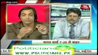 Shoaib Akhtar DefendingIndian Media & Indian Media over reaction for not qualifying for semis