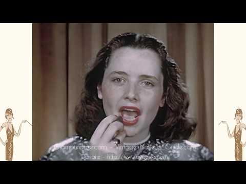 Vintage 1940s Makeup Tutorial Film - 1948