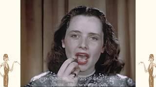 Vintage 1940s Makeup Tutorial Film - 1946
